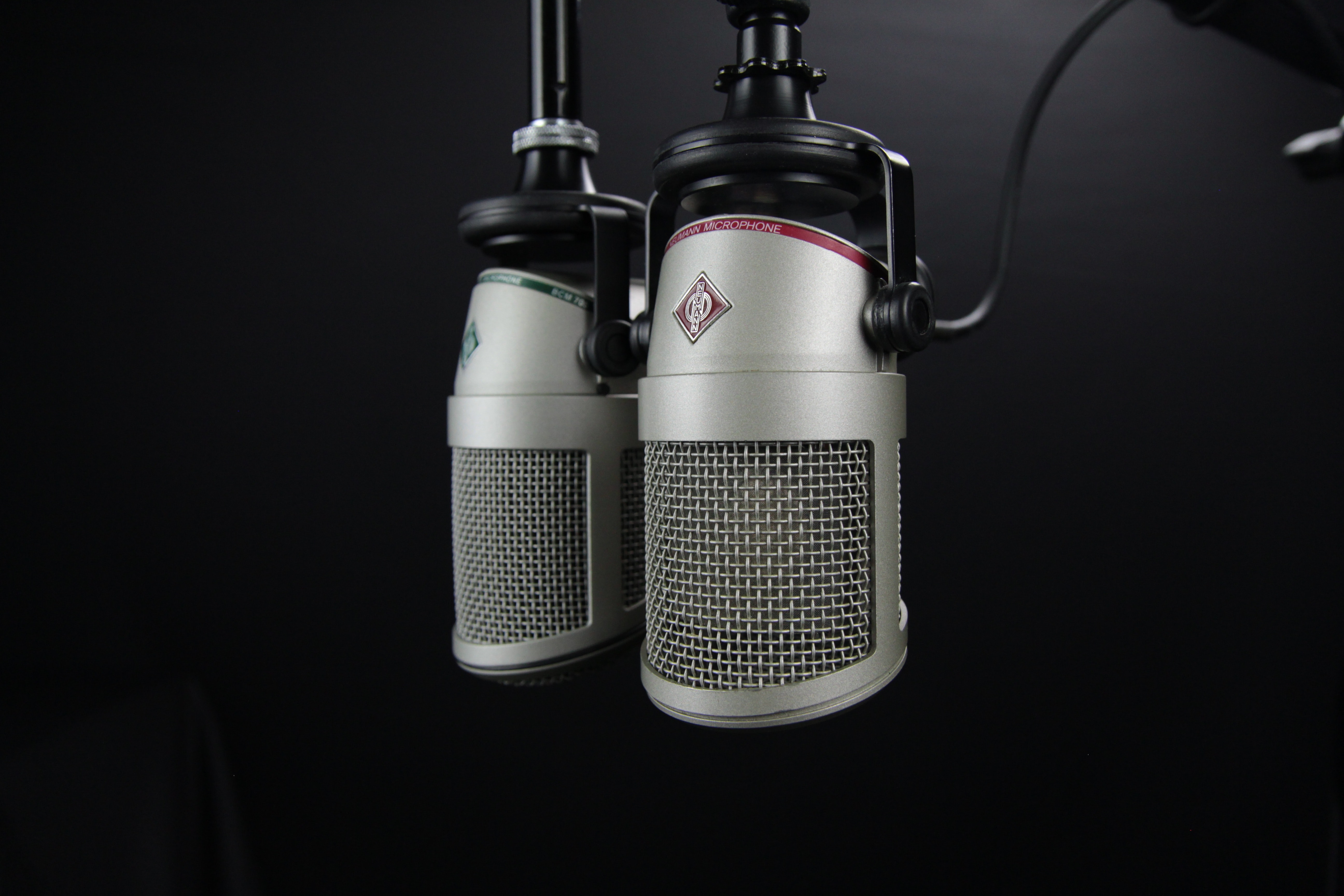 Picture of mocrophone for recording of podcasts